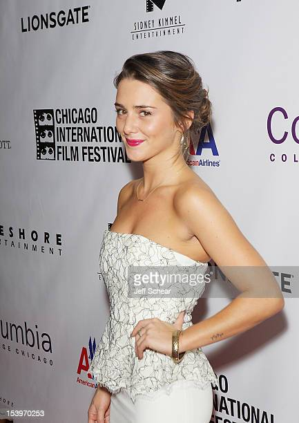 Addison Timlin attends the 'Stand Up Guys' premiere during the opening night of the 48th Chicago International Film Festival at the Harris Theater on...
