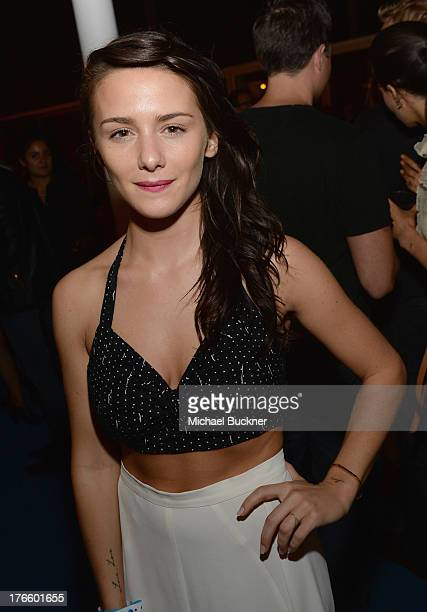 Addison Timlin attends Warby Parker's store opening in The Standard Hollywood on August 15 2013 in Los Angeles California