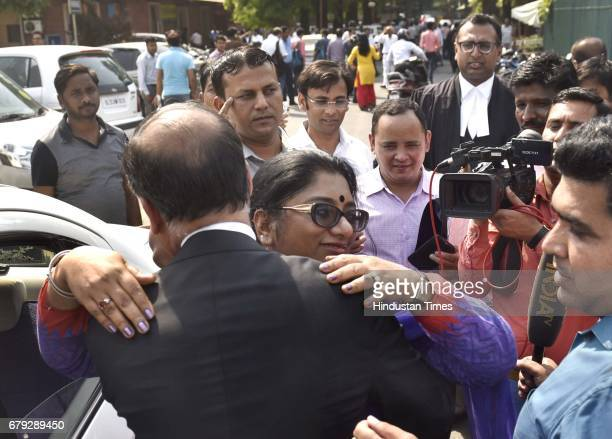 Addls CP Chhaya Sharma after the Supreme Court pronounced verdict on the appeals filed by four death row convicts against death penalty in the 2012...