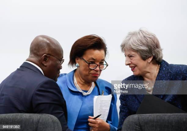 Addo Dankwa AkufoAddo President of Ghana Patricia Scotland Secretary General of the Commonwealth and Theresa May Prime Minister of the United Kingdom...