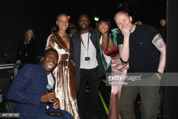 Ade Adepitan Adwoa Aboah Henrique Wooding Maya Jama and Professor Green backstage as thousands of Global Citizens unite with leading UK artists...