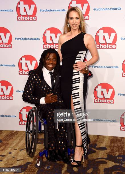 Ade Adepitan and Linda Harrison attending the TV Choice Awards held at the Hilton Hotel Park Lane London