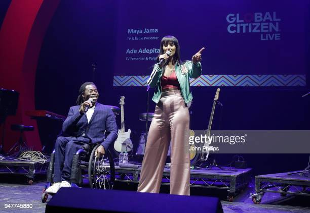 Ade Adepitan and Maya Jama host on stage as thousands of Global Citizens unite with leading UK artists industry leaders and nonprofit organizations...