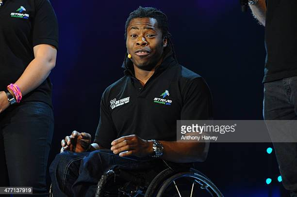 Ade Adepitan attends as Free The Children hosts their debut UK global youth empowerment event We Day at Wembley Arena on March 7 2014 in London...