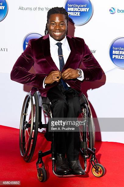 Ade Adepitan attends the Barclaycard Mercury Prize at The Roundhouse on October 29 2014 in London England