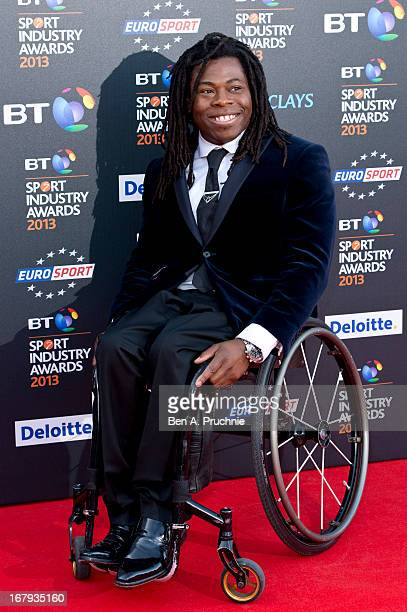 Ade Adepitan attends the BT Sports Industry awards at Battersea Evolution on May 2 2013 in London England