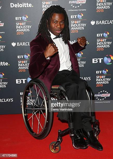 Ade Adepitan attends the BT Sports Industry awards at Battersea Evolution on April 30 2015 in London England