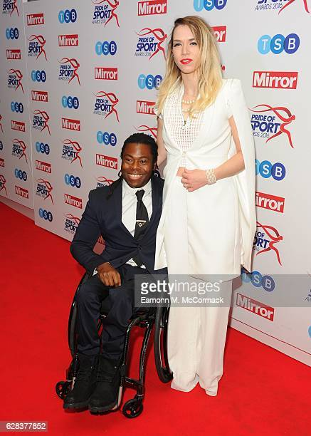 Ade Adepitan attends the Daily Mirror's Pride of Sport awards at The Grosvenor House Hotel on December 7 2016 in London England