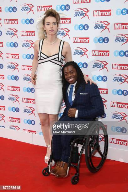 Ade Adepitan attends the Pride of Sport awards at Grosvenor House on November 22 2017 in London England