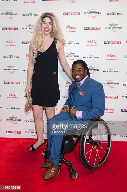 Ade Adepitan attends the The Sunday Times and Sky Sports Sportswomen of the Year Awards in association with Vitality on November 6 2015 in London...