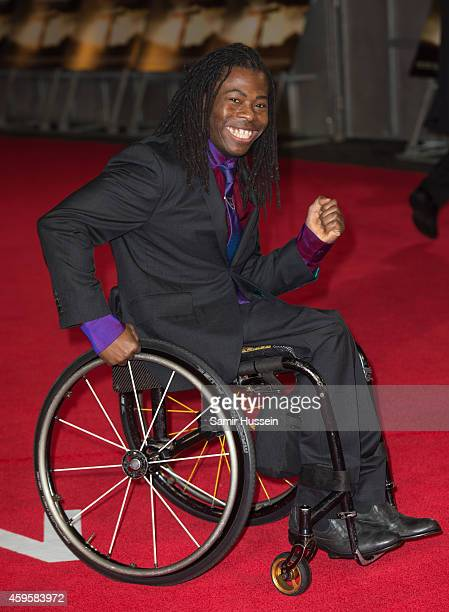 Ade Adepitan attends the UK Premiere of 'Unbroken' at Odeon Leicester Square on November 25 2014 in London England