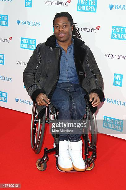 Ade Adepitan attends the We Day UK a charity event to bring young people together at Wembley Arena on March 7 2014 in London England