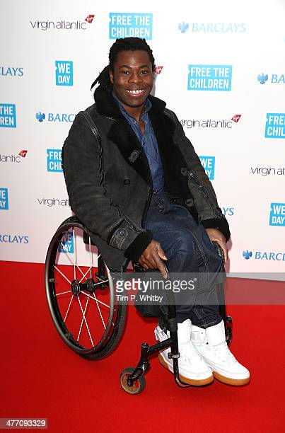 Ade Adepitan attends We Day UK a charity event to bring young people together at Wembley Arena on March 7 2014 in London England
