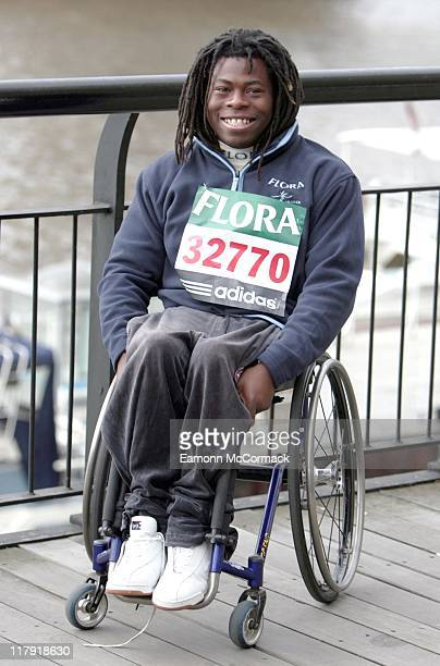 Ade Adepitan during the 2007 Flora London Marathon Press Conference at the Tower Thistle Hotel London on April 20 2007