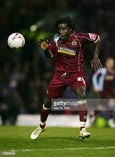 Ade Akinbiyi of Burnley in action during the Coca Cola Championship match between Burnley and West Bromwich Albion at Turf Moor on April 23 2007 in...