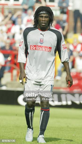 Ade Akinbiyi of Stoke City during their CocaCola Championship match at Millmoor Rotherham THIS PICTURE CAN ONLY BE USED WITHIN THE CONTEXT OF AN...