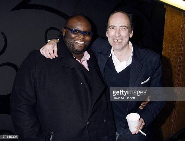 Ade and Mick Jones attend the private view of 'Zoltars Gaping Memory Hole' by Dan Macmillan to launch the new site zoltarcom at the Subway Gallery on...