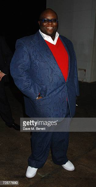 Ade attends backstage at the World Music Awards 2006 at Earls Court on November 15 2006 in London England