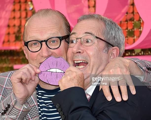 Ade Edmondson and Ben Elton attend the World Premiere of 'Absolutely Fabulous The Movie' at Odeon Leicester Square on June 29 2016 in London England
