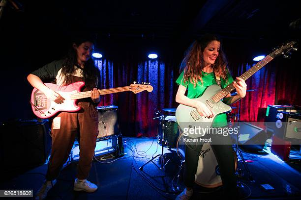 Ade Martin and Carlotta Cosials of Hinds performs at The Academy on November 29 2016 in Dublin Ireland