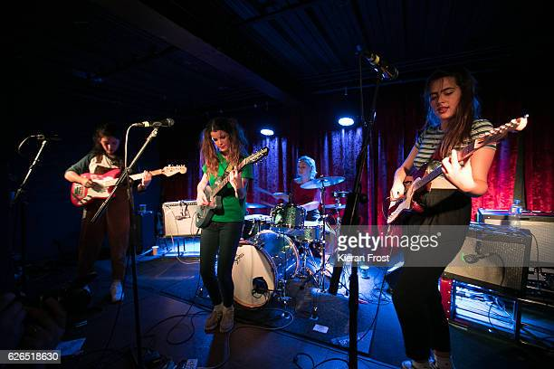 Ade Martin Carlotta Cosials Amber Grimbergen and Ade Martin of Hinds performs at The Academy on November 29 2016 in Dublin Ireland