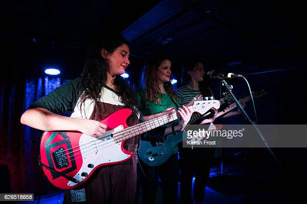 Ade Martin Carlotta Cosials and Ana Perrote of Hinds performs at The Academy on November 29 2016 in Dublin Ireland