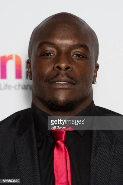 Adebayo Akinfenwa attends the Legends of Football fundraiser at The Grosvenor House Hotel on October 2 2017 in London England The annual...