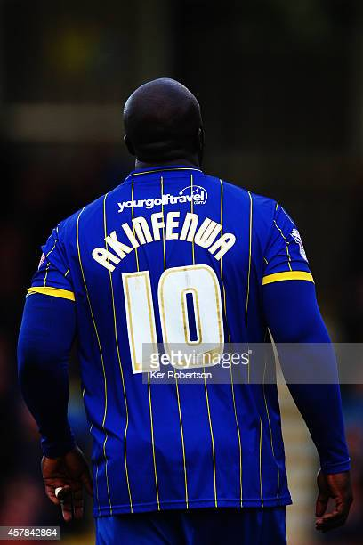 Adebayo Akinfenwa of AFC Wimbledon in action during the Sky Bet League Two match between AFC Wimbledon and Tranmere Rovers at The Cherry Red Records...