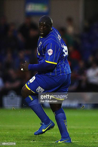 Adebayo Akinfenwa of AFC Wimbledon is seen during the Sky Bet League Two match between AFC Wimbledon and Cambridge United at the Cherry Red Records...