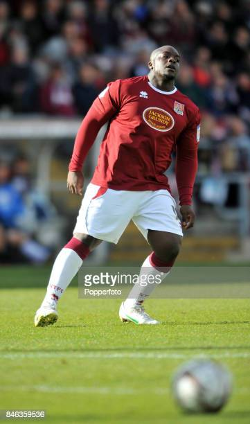 Adebayo Akinfenwa of Northampton Town during the npower League Two match between Northampton Town and Exeter City at Sixfields Stadium on October 13...