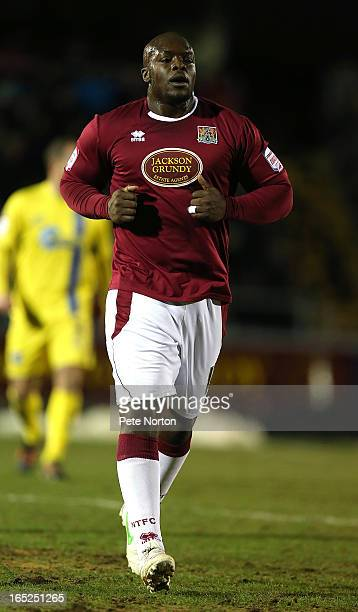 Adebayo Akinfenwa of Northampton Town in action during the npower League Two match between Northampton Town and Torquay United at Sixfields Stadium...