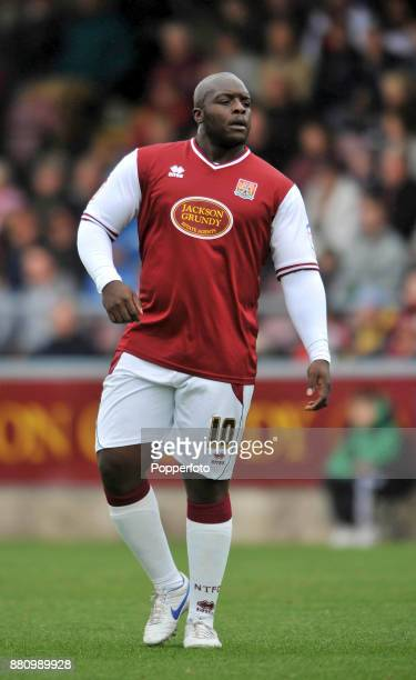 Adebayo Akinfenwa of Northampton Town in action during the Npower League Two match between Northampton Town and Crawley Town at Sixfields Stadium on...