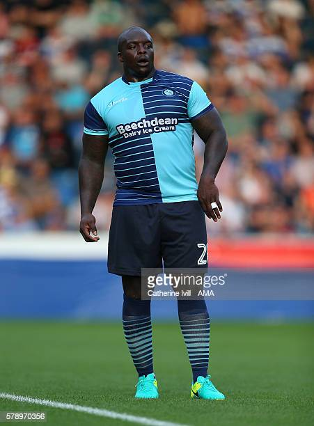 Adebayo Akinfenwa of Wycombe Wanderers during the PreSeason Friendly match between Wycombe Wanderers and Queens Park Rangers at Adams Park on July 22...