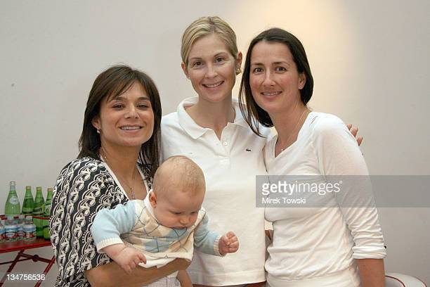 Adeena Karsseboom Kelly Rutherford Anna Getty and Kelly's son Hermes
