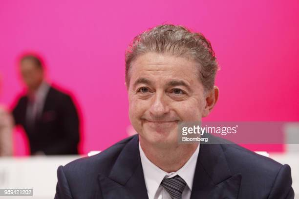 Adel AlSaleh board member of Deutsche Telekom AG looks on during the company's shareholders' meeting in Bonn Germany on Thursday May 17 2018 Deutsche...