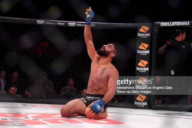 Adel Altamimi defeats Brandon McMahan via submission at 116 of the first round during Bellator 214 at the Forum in Inglewood CA Saturday Jan 26 2019