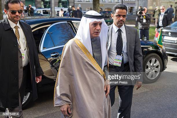 Adel bin Ahmed Al-Jubeir , Minister for Foreign Affairs of the Kingdom of Saudi Arabia, arrives for the 2016 Munich Security Conference at the...