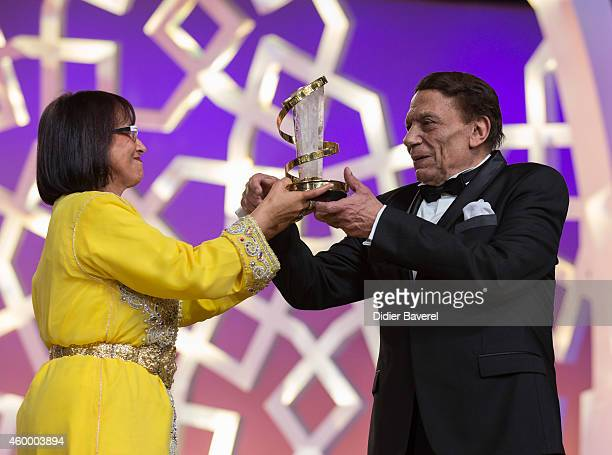 Adel Emam attends the 14th Marrakech International Film Festival Opening Ceremony for his tribute on December 5 2014 in Marrakech Morocco