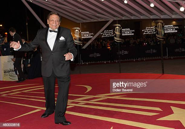 Adel Emam attends the jury photocall red carpet during the opening ceremony of the 14th Marrakech International Film Festival on December 5 2014 in...
