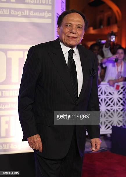 Adel Imam attends at the Awards Show and Closing Night Red Carpet and Screening of 'The First Grader' during the 2010 Doha Tribeca Film Festival held...