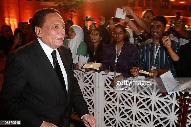 Adel Imam attends the Awards Show and Closing Night Red Carpet and Screening of 'The First Grader' during the 2010 Doha Tribeca Film Festival held at...