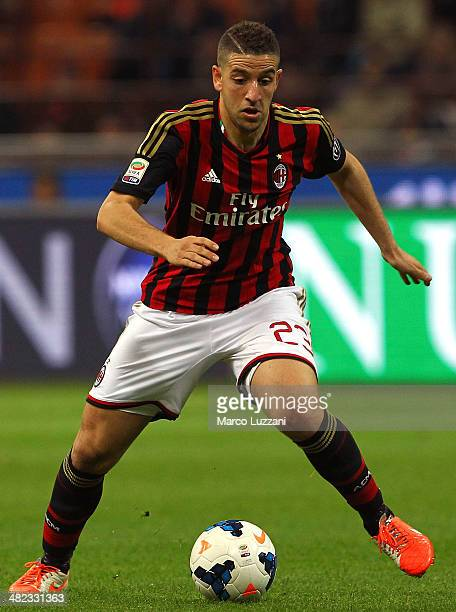 Adel Taarabt of AC Milan in action during the Serie A match between AC Milan and AC Chievo Verona at San Siro Stadium on March 29, 2014 in Milan, Italy.