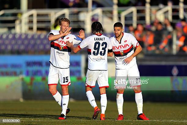 Adel Taarabt of Genoa CFC celebrates after scoring a goal during the Serie A match between ACF Fiorentina and Genoa CFC at Stadio Artemio Franchi on...