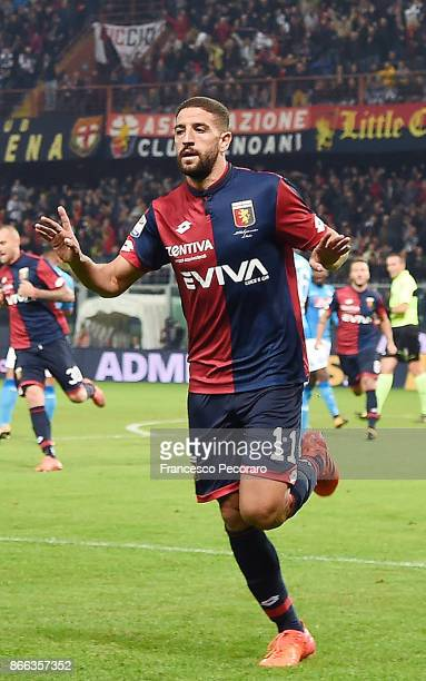 Adel Taarabt of Genoa CFC celebrates after scoring goal 10 during the Serie A match between Genoa CFC and SSC Napoli at Stadio Luigi Ferraris on...