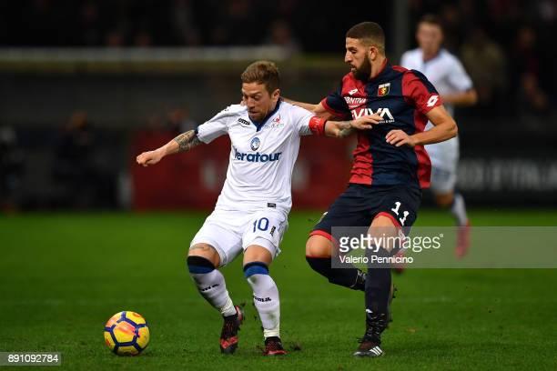 Adel Taarabt of Genoa CFC competes with Alejandro Gomez of Atalanta BC during the Serie A match between Genoa CFC and Atalanta BC at Stadio Luigi...