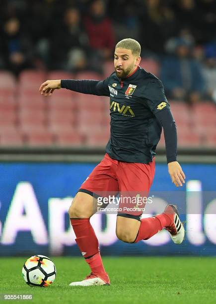 Adel Taarabt of Genoa CFC drives the ball during the serie A match between SSC Napoli v Genoa CFC at Stadio San Paolo on March 18 2018 in Naples Italy