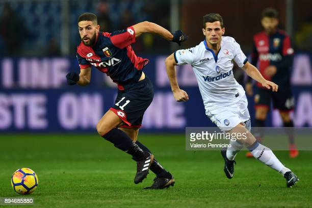 Adel Taarabt of Genoa CFC in action against Remo Freuler of Atalanta BC during the Serie A match between Genoa CFC and Atalanta BC at Stadio Luigi...