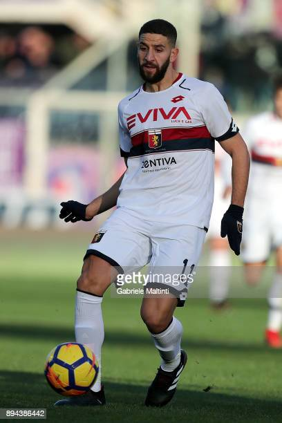 Adel Taarabt of Genoa CFC in action during the Serie A match betweenACF Fiorentina and Genoa CFC at Stadio Artemio Franchi on December 17 2017 in...