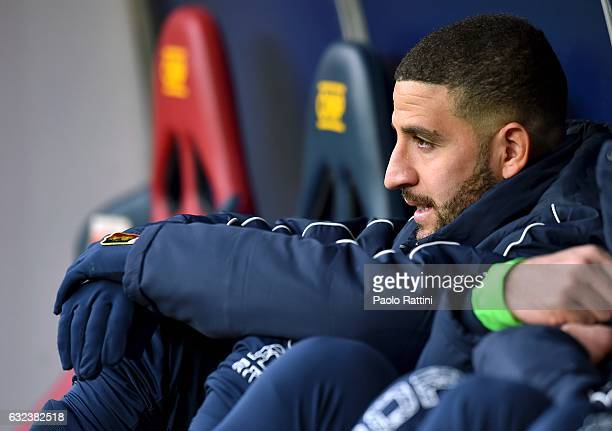 Adel Taarabt of Genoa looks on from the bench before the Serie A match between Genoa CFC and FC Crotone at Stadio Luigi Ferraris on January 22 2017...