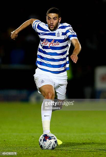 Adel Taarabt of QPR in action during the Capital One Cup Second Round match between Burton Albion and Queens Park Rangers at Pirelli Stadium on...